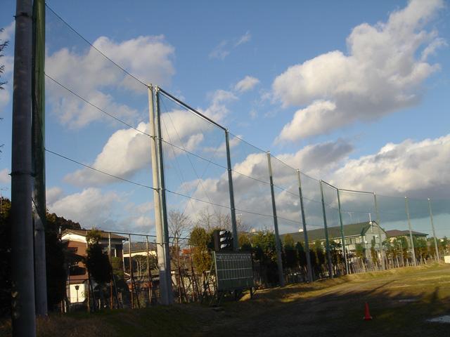 仙台南高校防球ネット設置